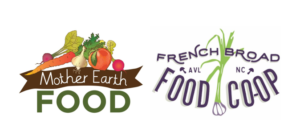 Mother Earth Food & French Broad Food Co-op Logos
