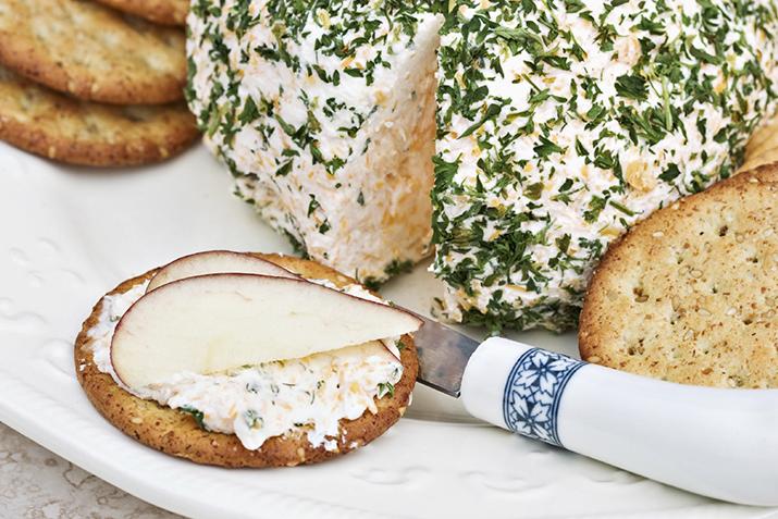 Holiday Cheddar Cheese Ball