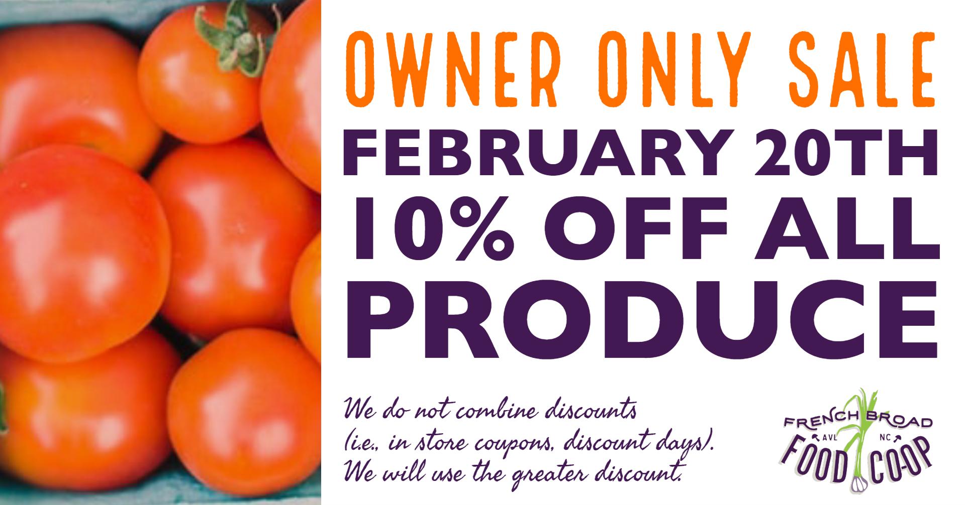 produce sale facebook event