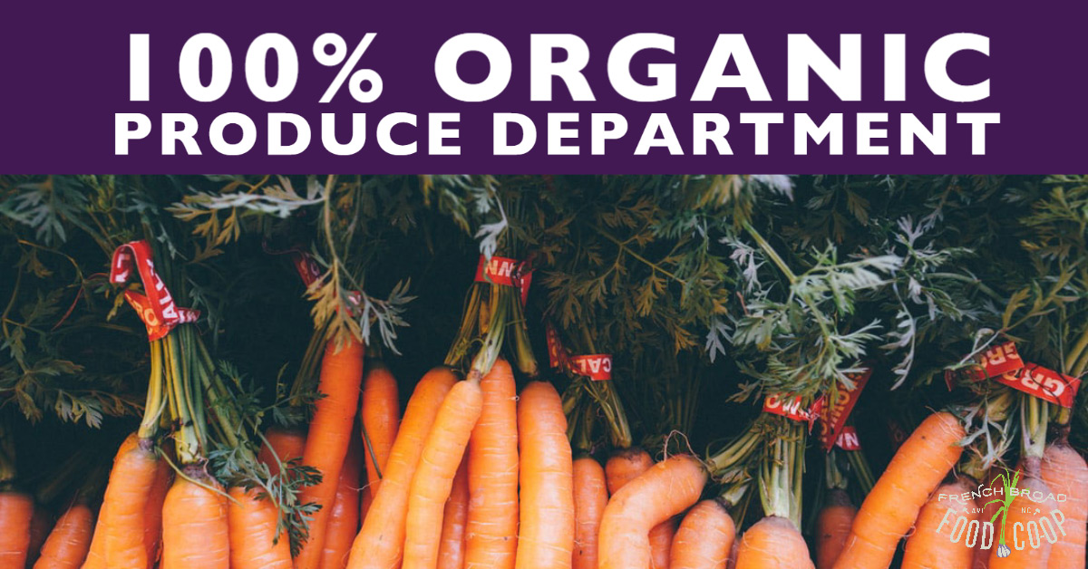 100% Organic Produce Department