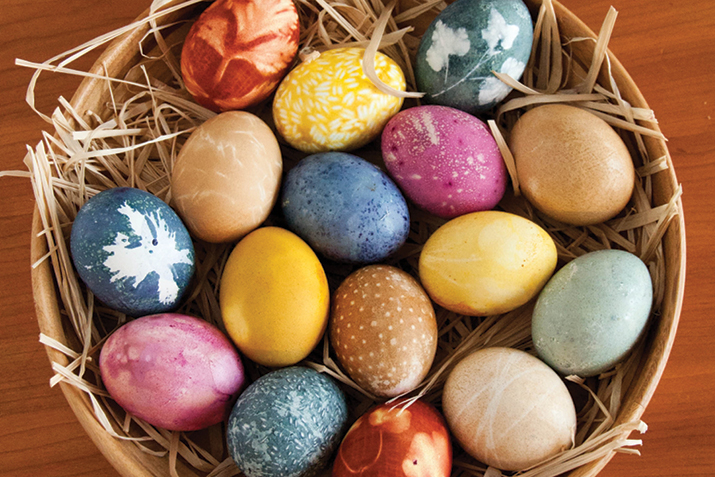 Naturally Dyed Eggs