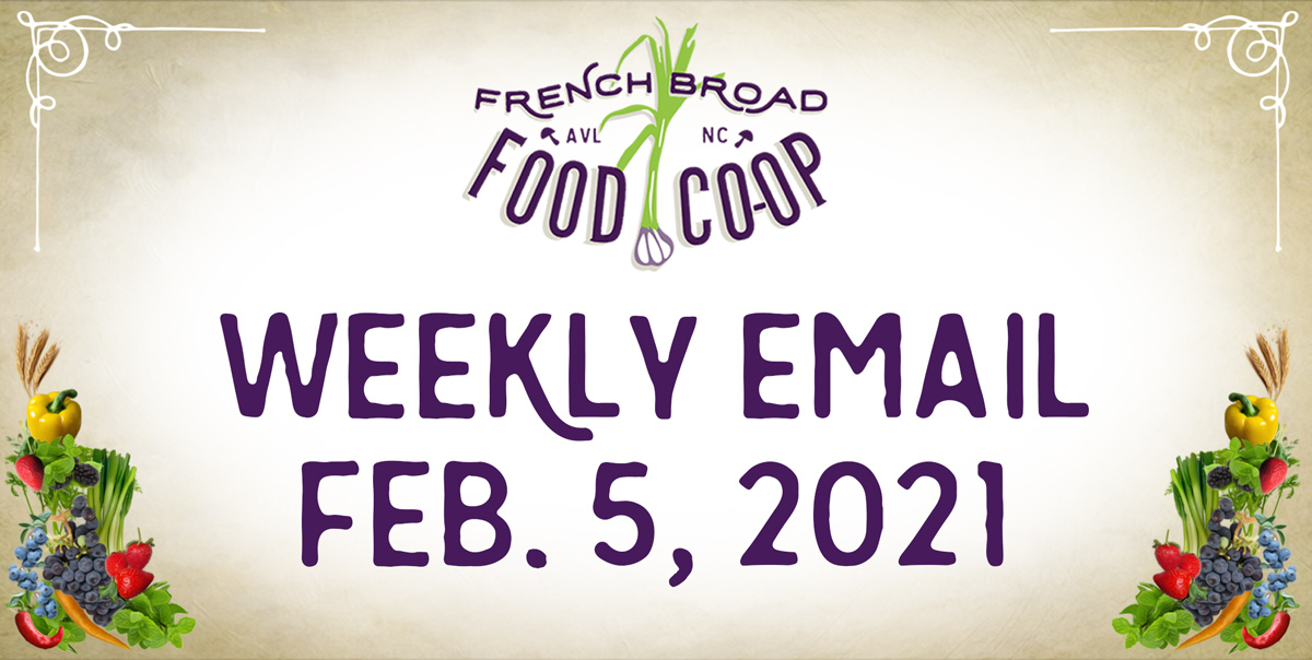 Weekly Email: February 5, 2021